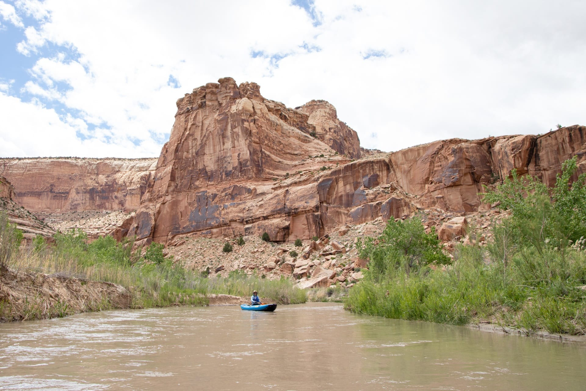 Plan an epic packrafting or kayaking trip on the San Rafael River through Utah's San Rafael Swell, with info on flows, camping, gear, and Leave No Trace.