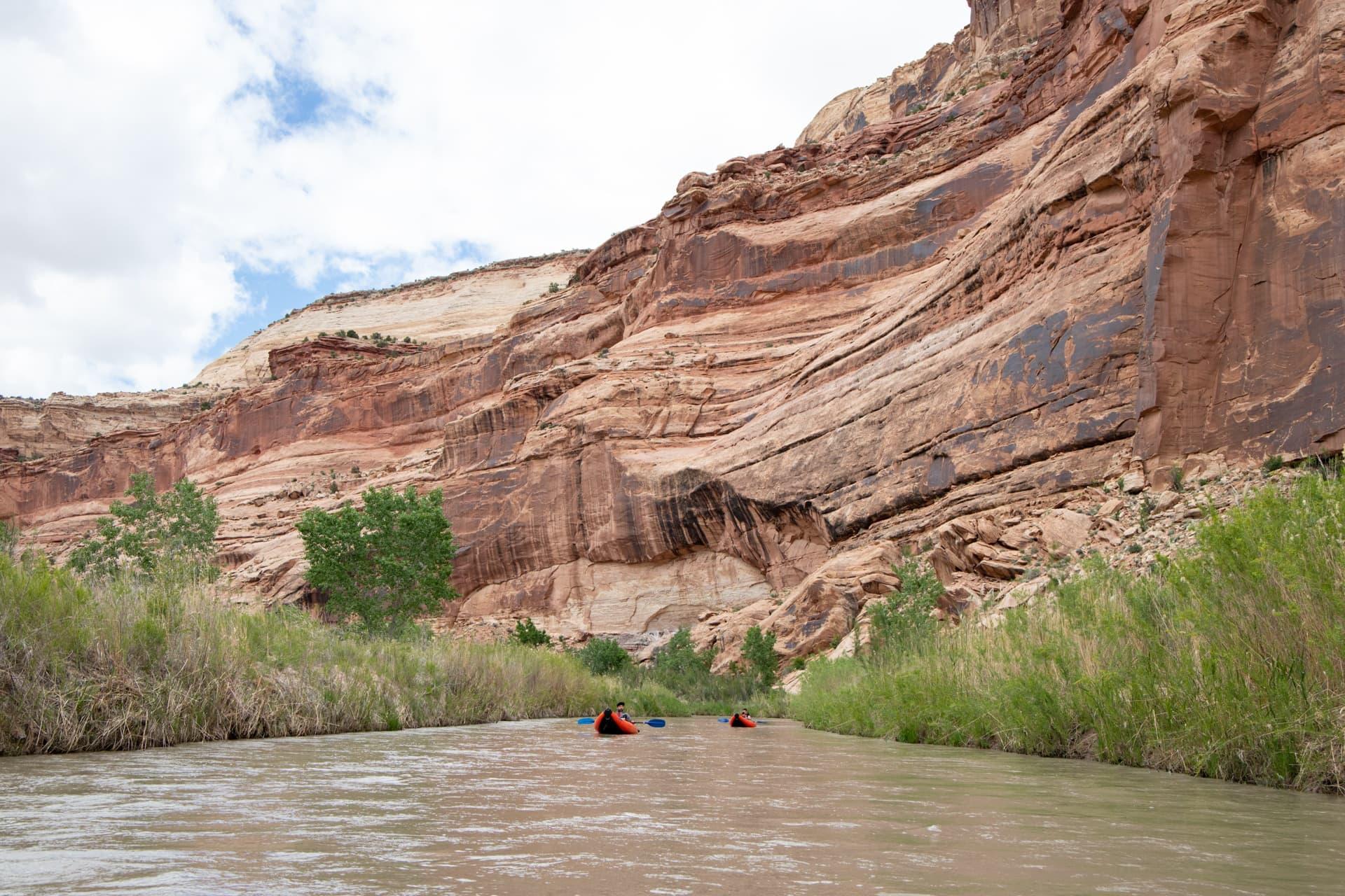 Floating the San Rafael River in Utah