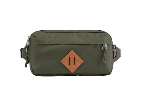 JanSport Fanny Pack - Check out our list of the best fanny packs for hiking, traveling, and road trips that look cool and are functional.