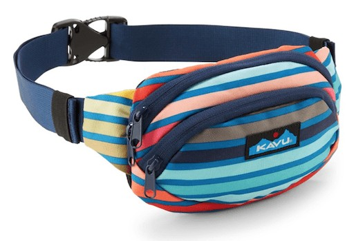 Kavu Fanny pack - Check out our list of the best fanny packs for hiking, traveling, and road trips that look cool and are functional.