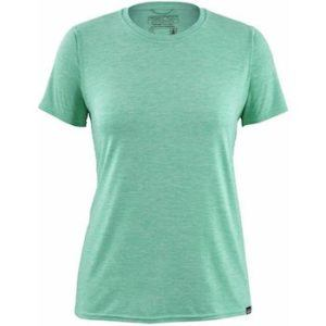 Patagonia Cool Capilene T-Shirt // Start packing for your next beach vacation with this beach essentials packing list. Find the best beach-worthy sandals, gear, and more!