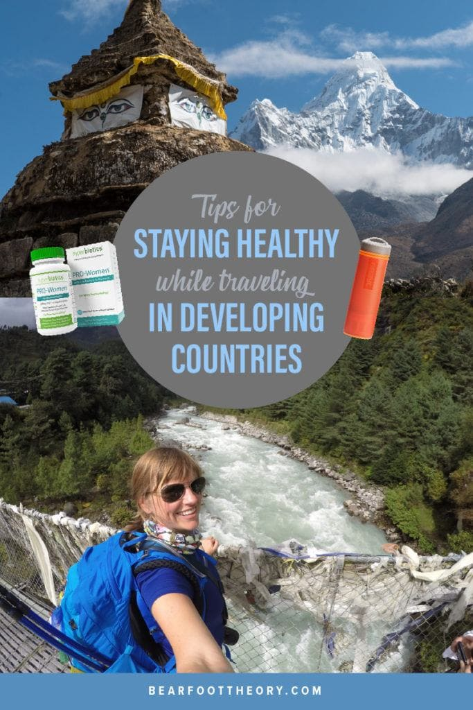 Wellness tips for staying healthy when you're on the road and how to not get sick when you are traveling in developing countries..