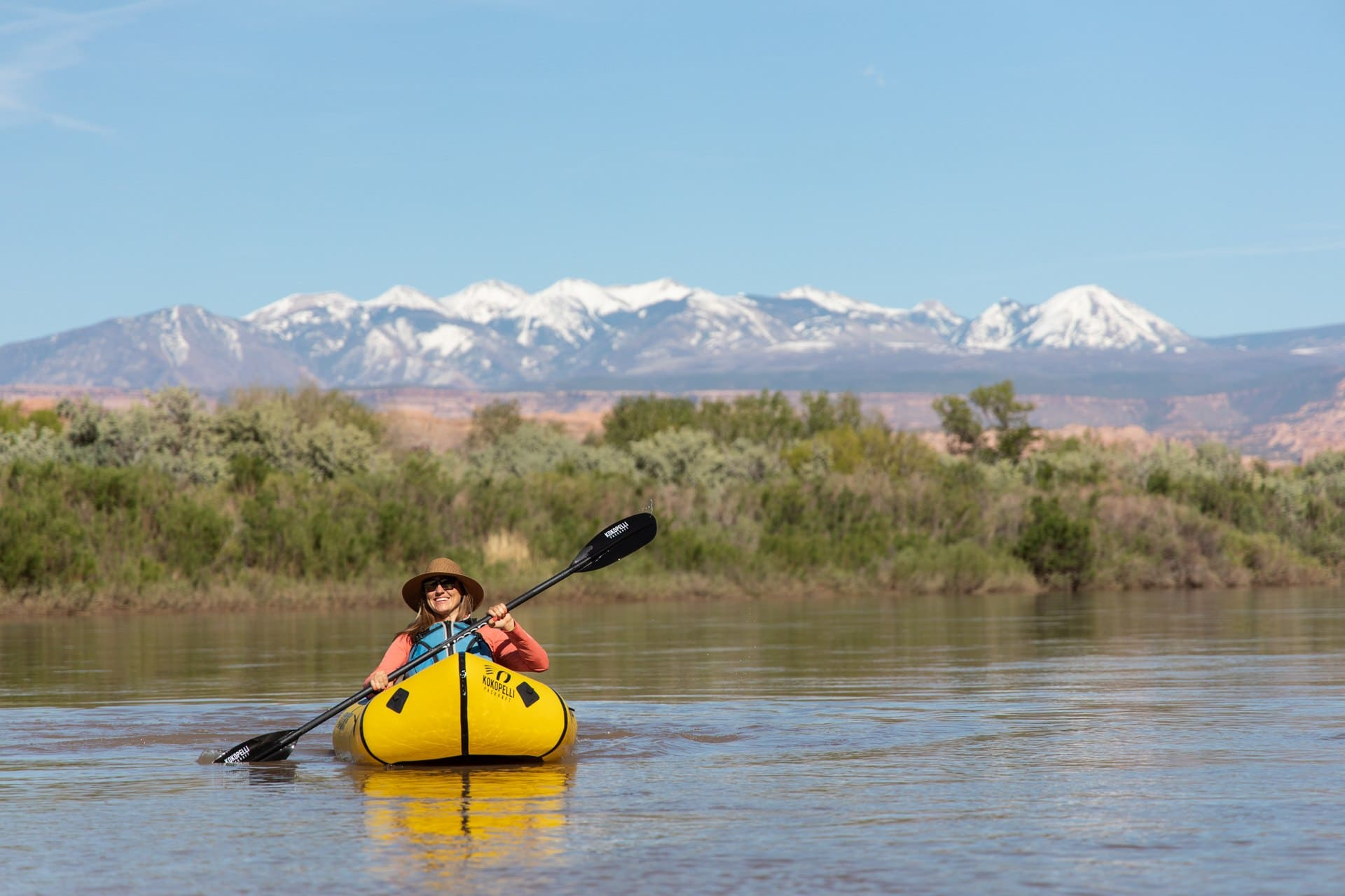 Paddling on the Colorado River // The best trails, waterfall hikes, campgrounds and more, that made the list of best things to do in Moab outside of the National Parks.
