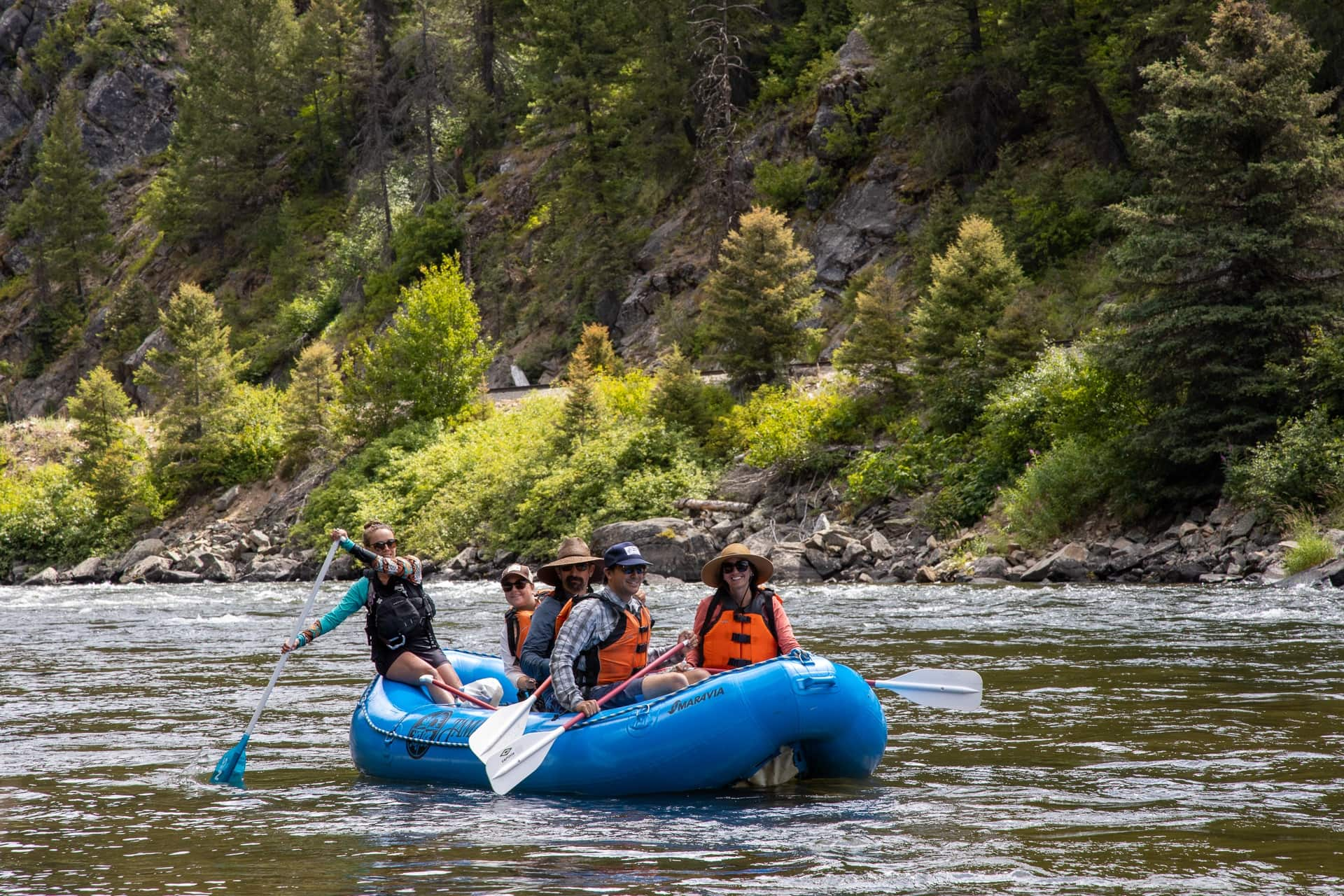 Whitewater rafting the Payette River in McCall, Idaho // An outdoor enthusiast's guide to the best hiking, biking, rafting, and more summer outdoor activities while visiting McCall, Idaho.