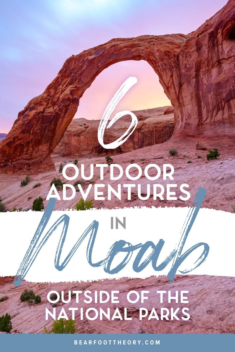 The best trails, waterfall hikes, campgrounds and more, that made the list of best things to do in Moab outside of the National Parks.