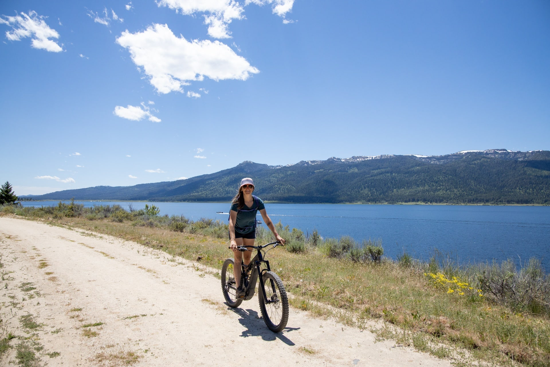 Biking the Crown Point Trail // Explore the best outdoor recreation in Cascade, Idaho with this 4-day itinerary featuring hot springs, hiking, off-roading, biking, and more.