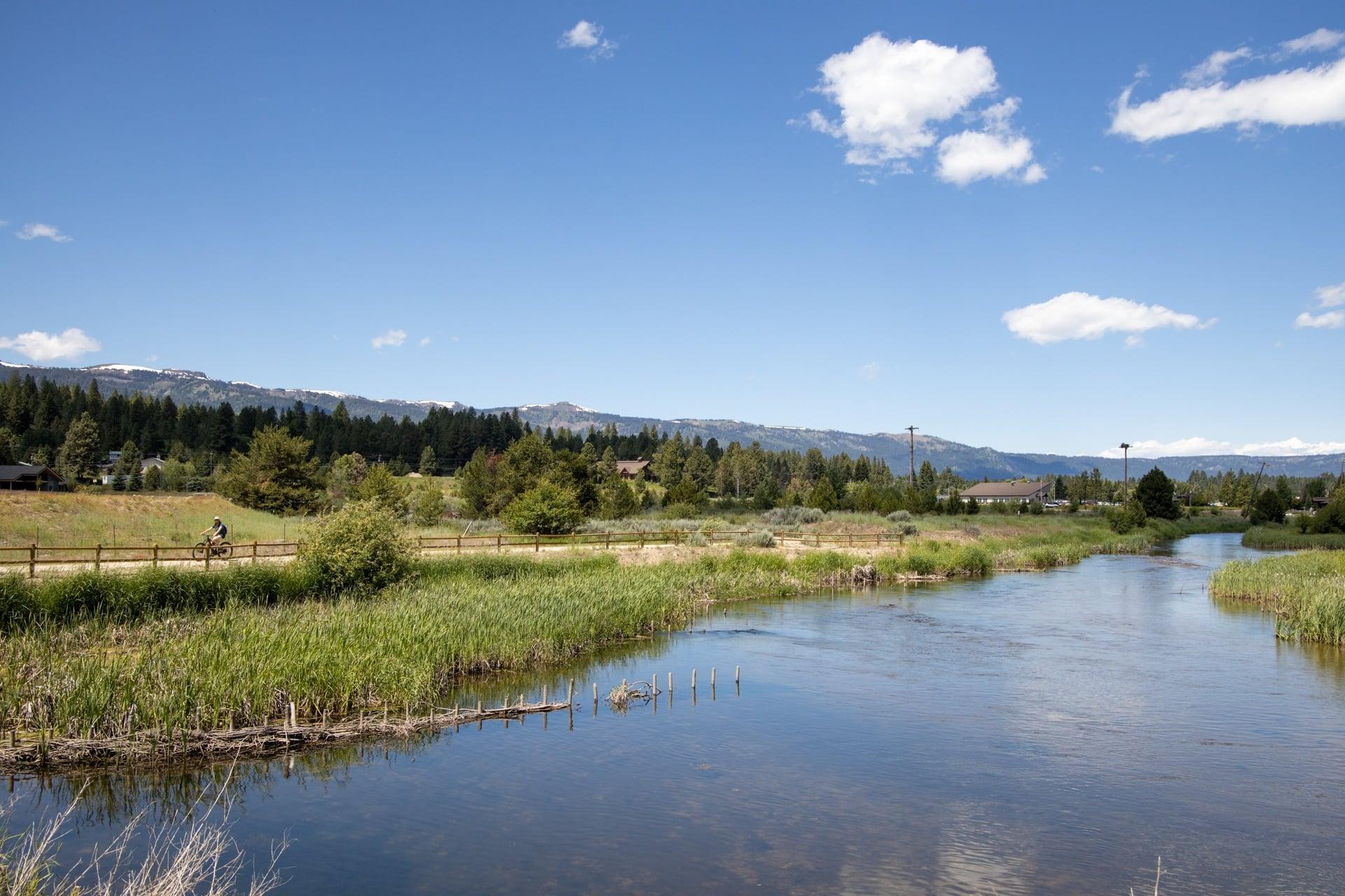 Biking the Strand in Cascade Idaho
