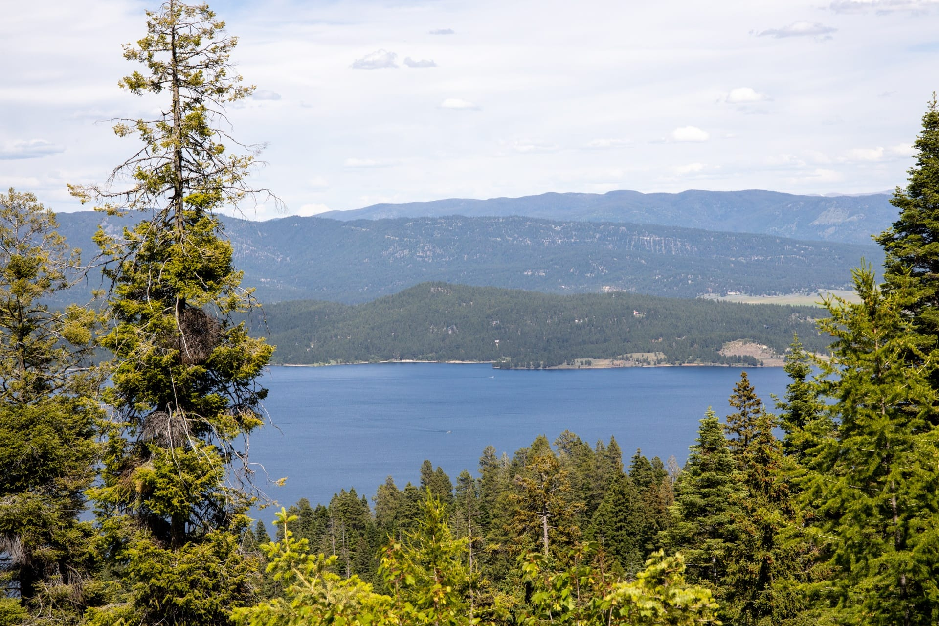 Lake Cascade from West Mountain in Idaho
