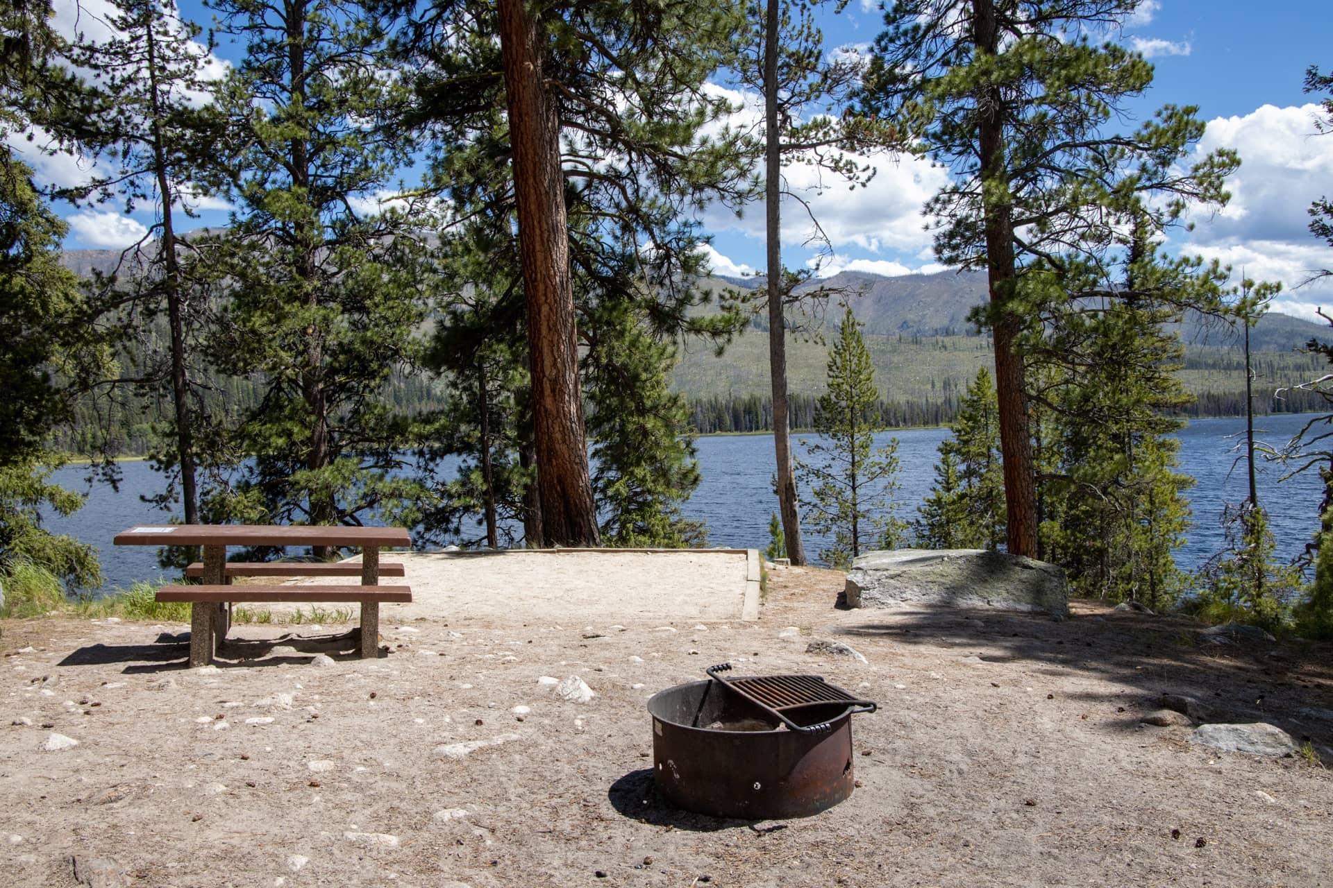 Picnic Point Campground at Warm Lake near Cascade Idaho