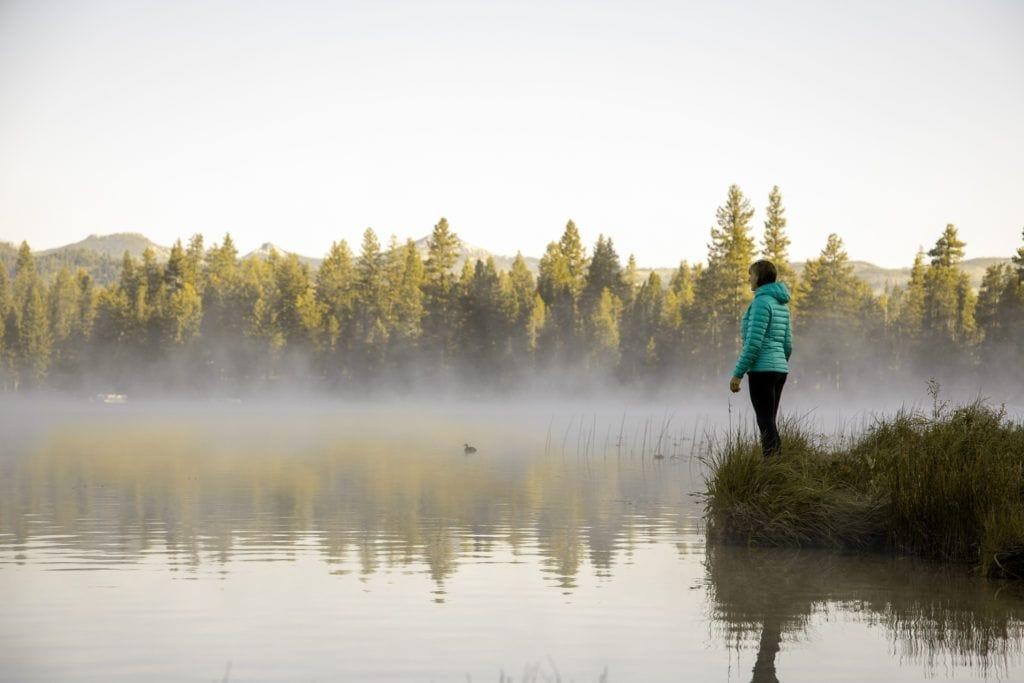Morning at Warm Lake in Cascade Idaho