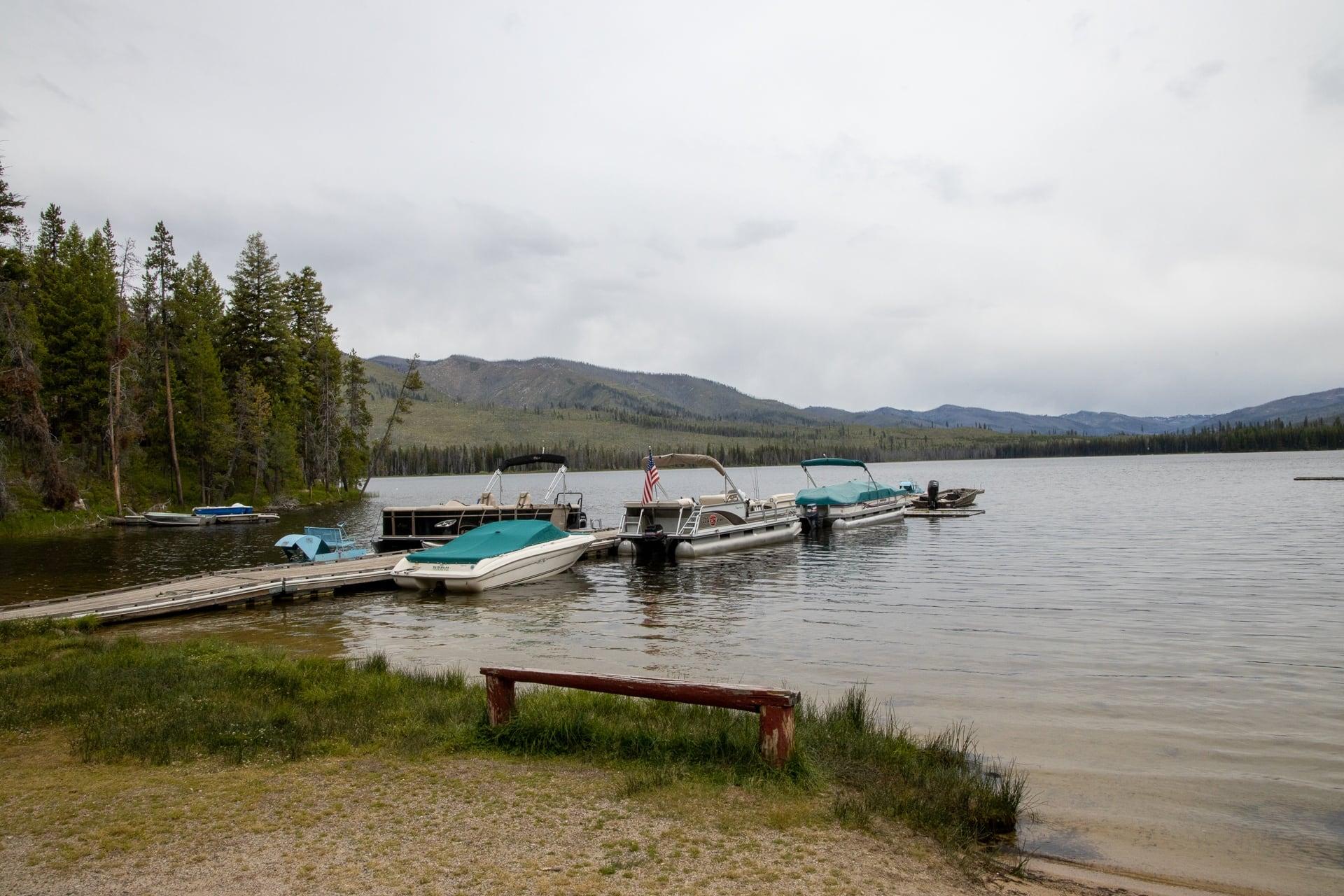 The marina at Warm Lake in Cascade idaho