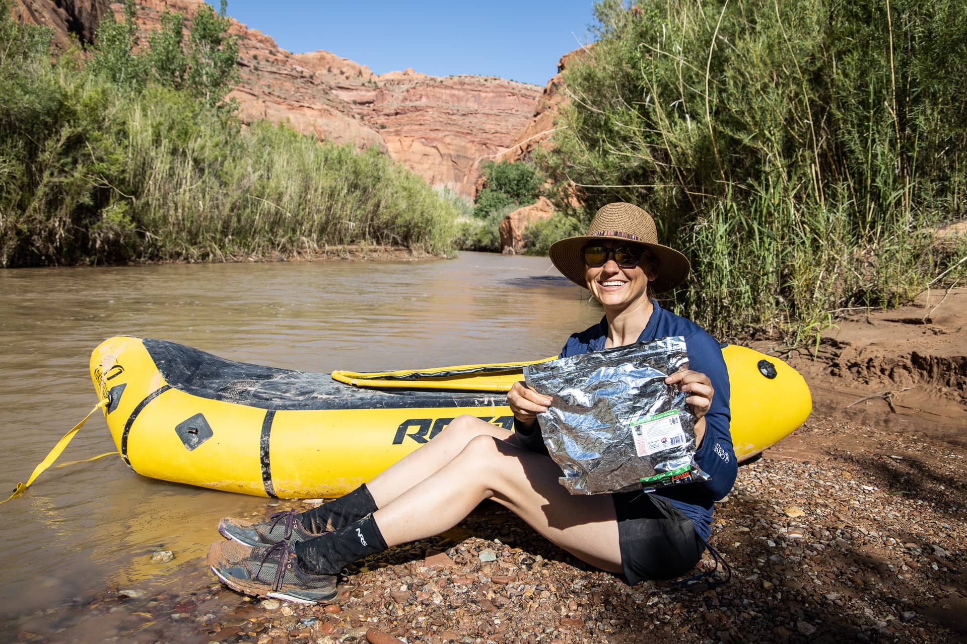 Wagbags are required when packrafting the Escalante River