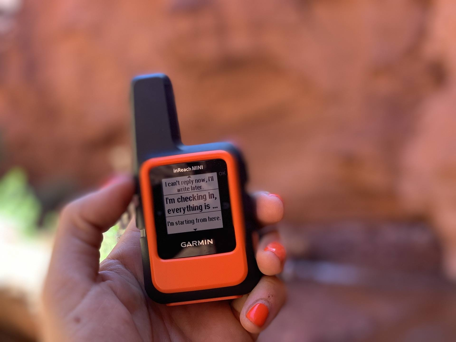 Garmin Inreach mini is an essential piece of gear for packrafting the Escalante River