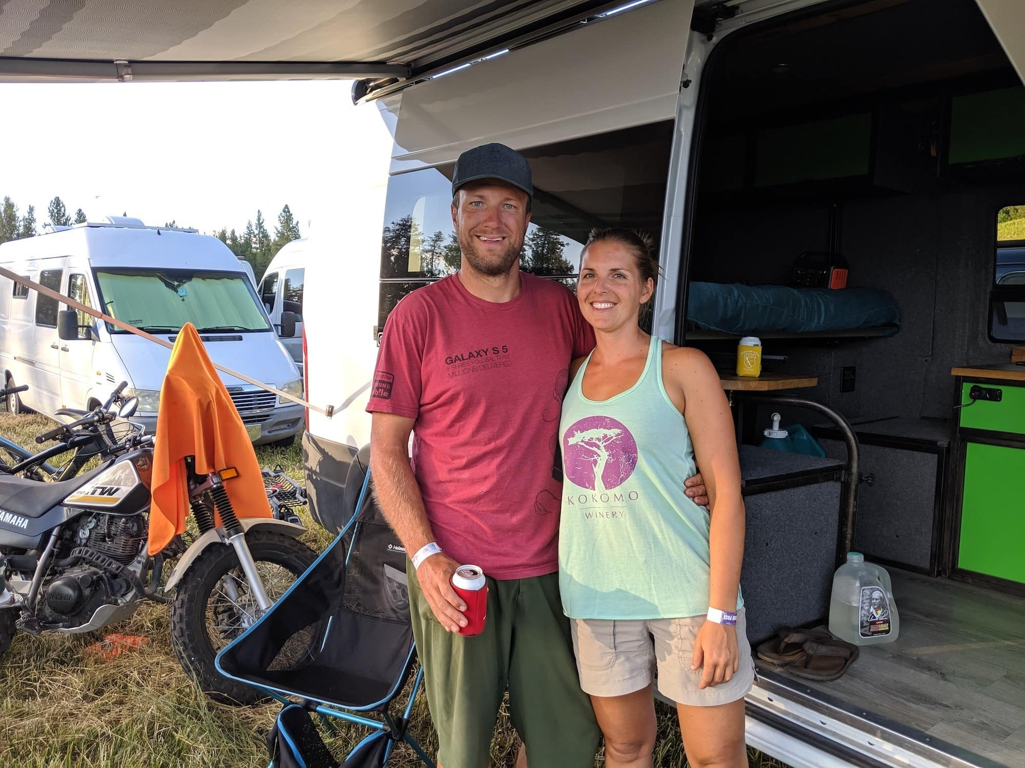 Check out 8 cool camper vans we saw at Open Roads Fest that were creative and unique at Jug Mountain Ranch in McCall, Idaho.
