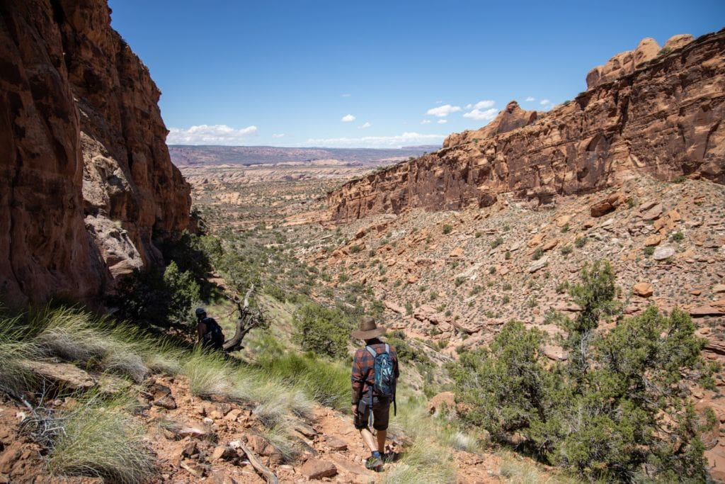 Hiking in Moab / Use these tips to learn how to do Moab like a local and be a responsible visitor while hiking, camping, off-roading and more.