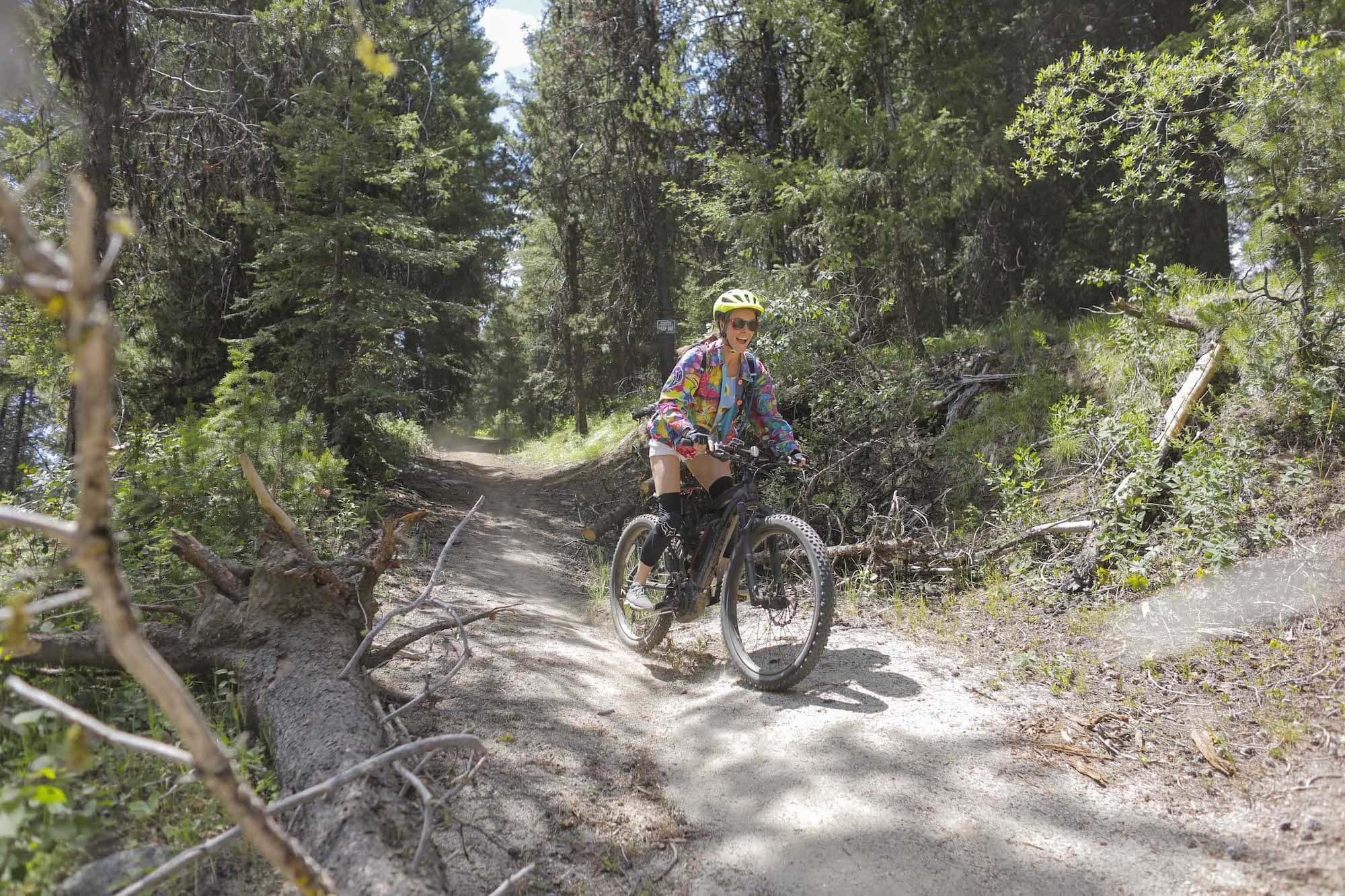 Mountain biking at Open Roads Fest