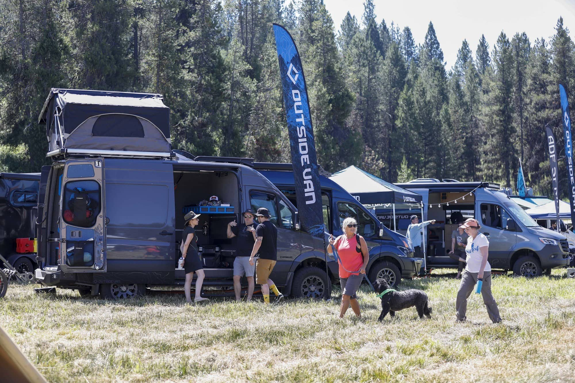 Vendors at Open Roads Fest included Outside Van, Aluminess, Zamp Solar, DIY Adventure Van Co and more!