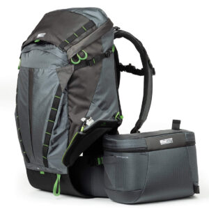 Think Tank Rotation Camera Backpack // Get tips for comfortably carrying & hiking with a camera and learn how to protect your gear from getting damaged on the trail.