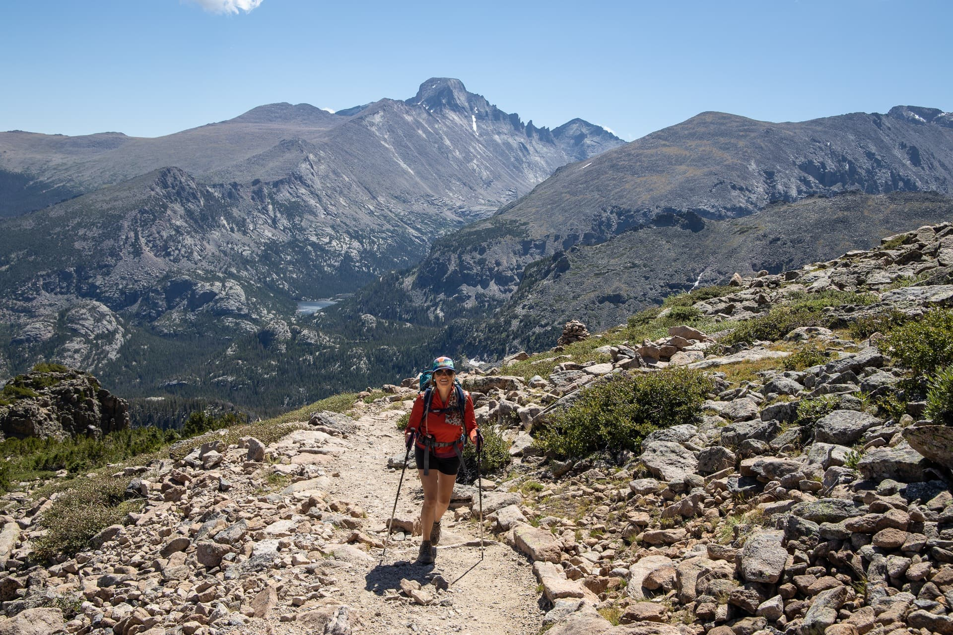 Flattop Mountain Trail // Sky Pond Trail // Get our guide to the best day hikes in Rocky Mountain National Park including distances, trail descriptions, what to be prepared for, and more.