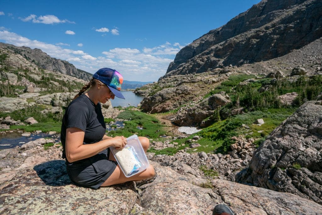 Stasher Bags // Save money on the road by bringing your own camp cooking gear. Here is our checklist for the best outdoor camp kitchen cooking essentials.