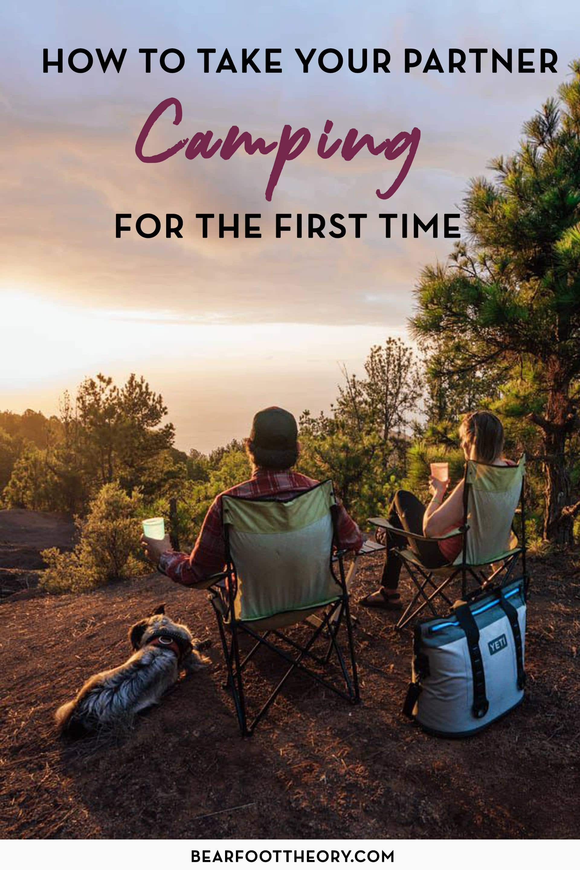 Our best advice and simple things you can do to successfully introduce your partner to camping for the first time so you both have a great experience.