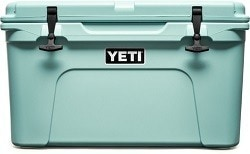 Yeti Tundra 45 Cooler // Save money on the road by bringing your own camp cooking gear. Here is our checklist for the best outdoor camp kitchen cooking essentials.
