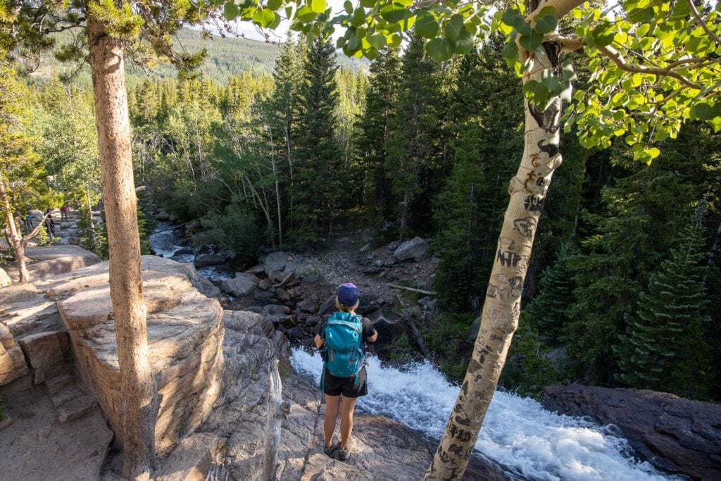 Black Lake Trail Alberta Falls // Get our guide to the best day hikes in Rocky Mountain National Park including distances, trail descriptions, what to be prepared for, and more.