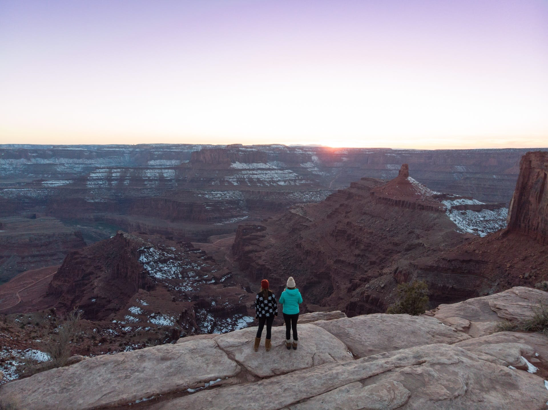 Dead Horse Point in Moab in winter // Use these tips to learn how to do Moab like a local and be a responsible visitor while hiking, camping, off-roading and more.