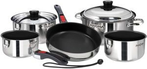 Magma Nesting Cookware // Induction stove safe cookware for van life cooking
