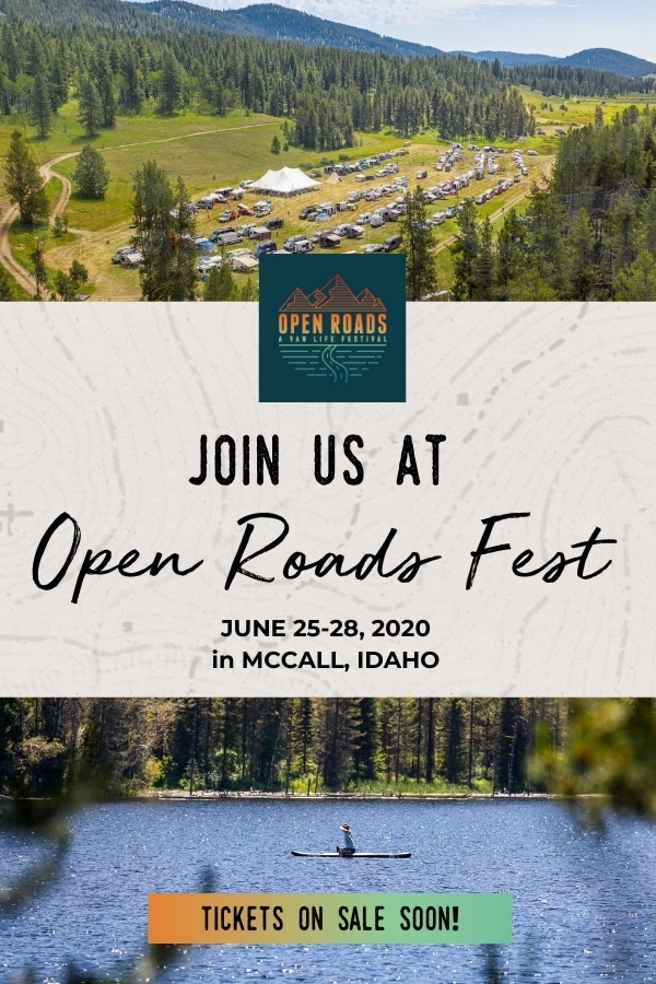 Open Roads Fest Van Life Festival June 25-28. 2020