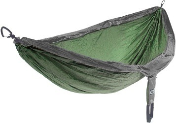 ENO's Leave No Trace hammock is an eco friendly gift that donates $10 from every purchase to the Leave No Trace center for outdoor ethics.