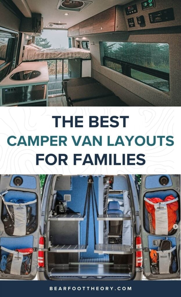 Want to do van life with your family? Learn the 5 most important things to consider and check out the best family camper van layouts!
