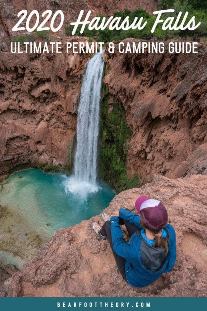 A complete travel guide to a one-of-a-kind Havasu Falls camping experience with everything you need to know about the trail, permits, campground, & gear.
