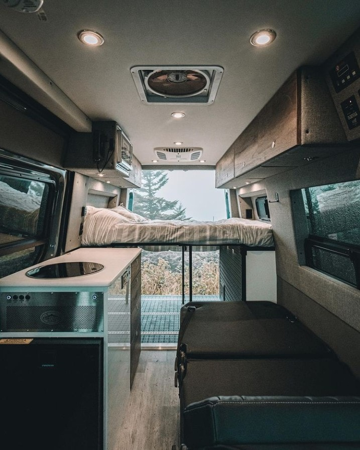 Want to do van life with kids? Check out the best camper van layouts for families, including this Mode 4x4 Van by Storyteller Overland, and discover 5 things to consider when designing your floor plan.