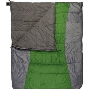 ALPS Mountaineering Double Wide Sleeping Bag // Here are the best double sleeping bags of 2020. Get cozy with these warm, comfortable 2-person sleeping bags ideal for camping, backpacking, and the budget-adventurer.