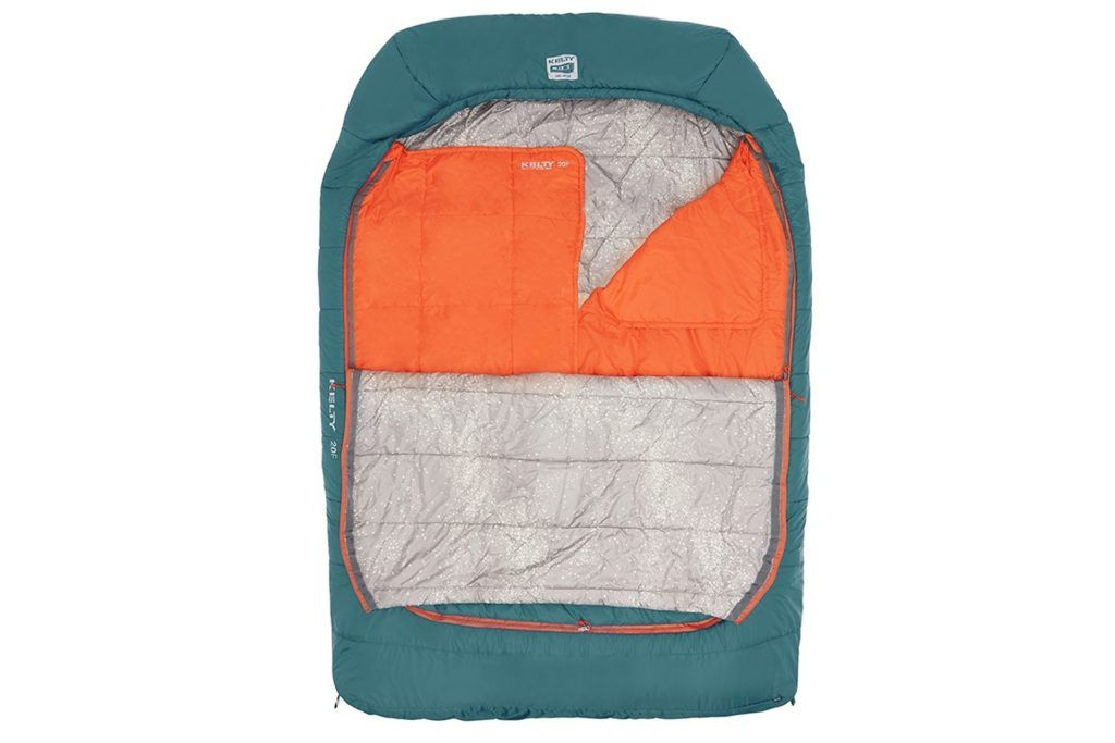 Kelty Tru.Comfort Doublewide Sleeping Bag // Here are the best double sleeping bags of 2021. Get cozy with these warm, comfortable 2-person options ideal for camping and backpacking.