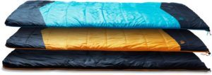 The North Face Dolomite Duo Double Sleeping Bag // Here are the best double sleeping bags of 2020. Get cozy with these warm, comfortable 2-person sleeping bags ideal for camping, backpacking, and the budget-adventurer.