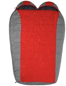 Teton Sports Tracker Double Sleeping Bag // Here are the best double sleeping bags of 2021. Get cozy with these warm, comfortable 2-person options ideal for camping and backpacking.