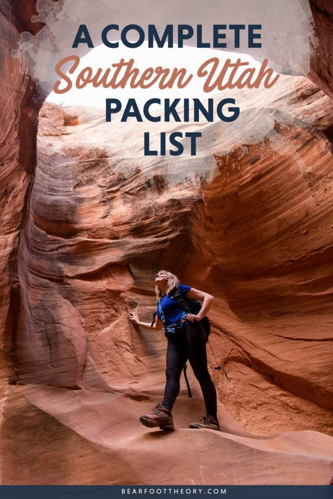 Planning to travel to the gorgeous Utah desert? Learn what clothing and gear you'll need to deal with the extreme weather in this Southern Utah packing list.