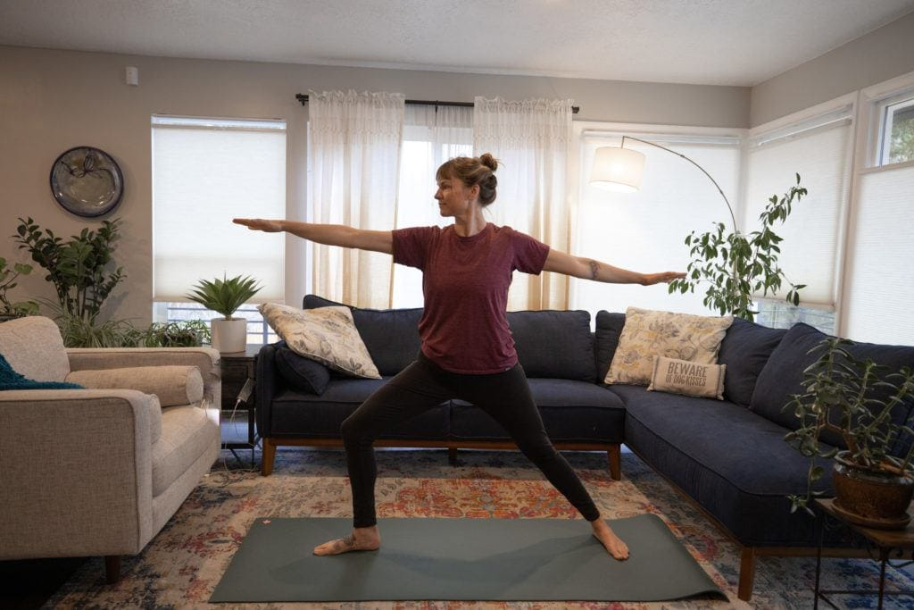 Yoga and stretching can help keep your knees healthy for hiking