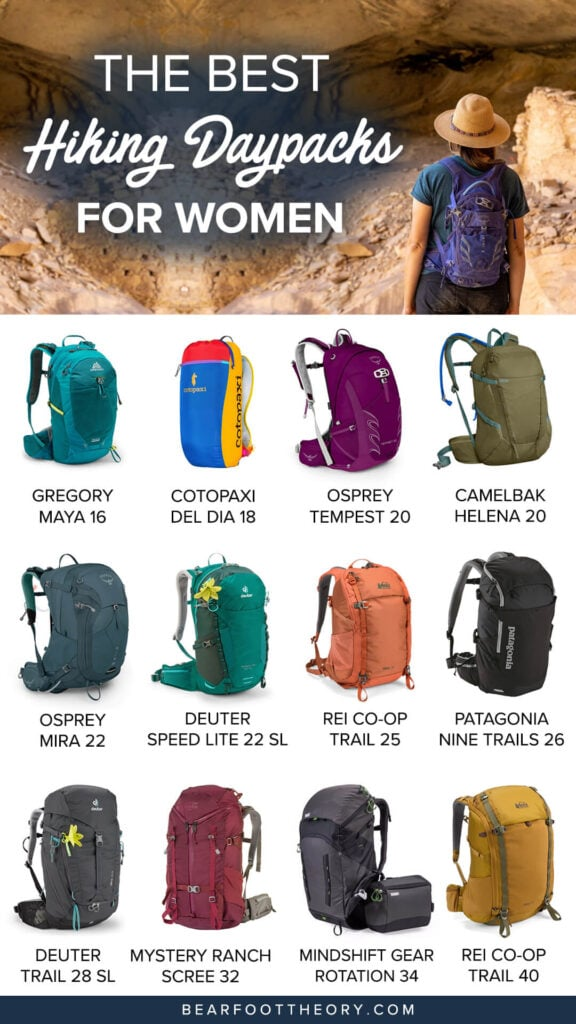Check out the best hiking daypacks for women in a variety of sizes and get tips for finding the right fit, capacity & technical features.