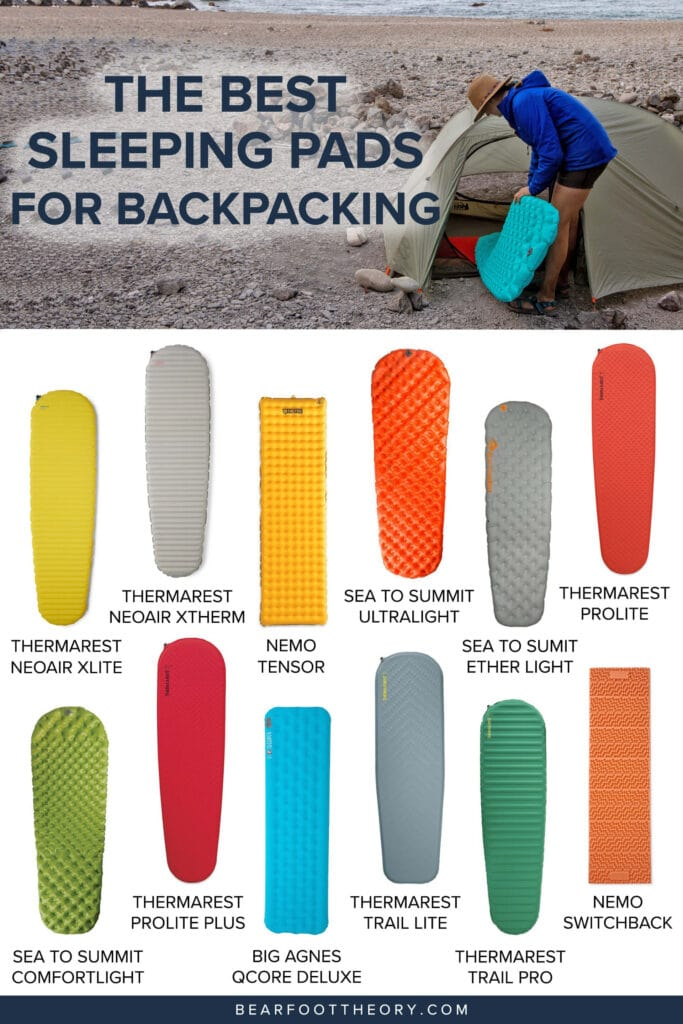 Discover the best sleeping pads for backpacking in 2021 that are lightweight, warm, comfortable, and durable enough for multi-day treks.