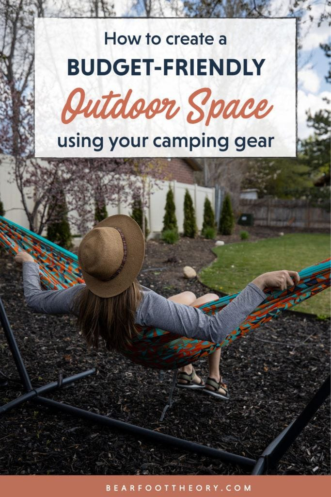 Get tips for utilizing your camping gear to create a comfortable, budget-friendly outdoor space in your yard, patio, or balcony. Hammock anyone?