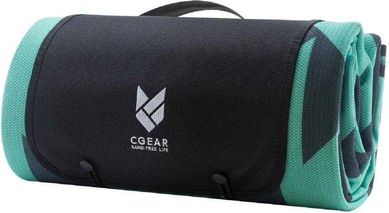 CGear Sandlite Sand-Free mat is what we use in our van, and it's a lightweight, packable, and as the name implies, sand-free mat that helps keep dirt and dust at bay.