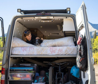 Learn about different camper van bed options including platform and convertible folding van beds plus examples of each.