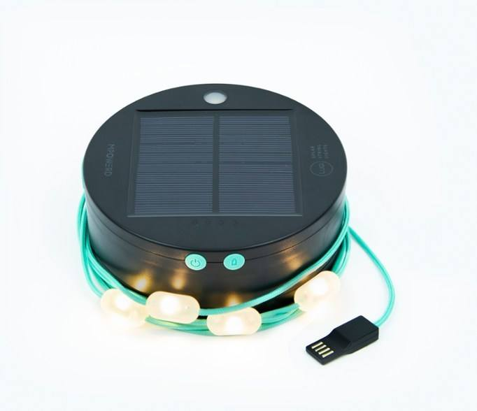 solar powered string lights by MPOWERD