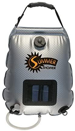 Solar shower bag for camping