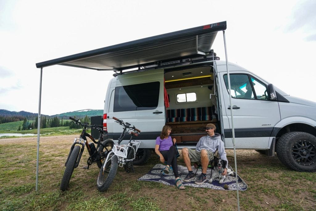 A van awning creates more living space outside your van and is a great accessory to have.
