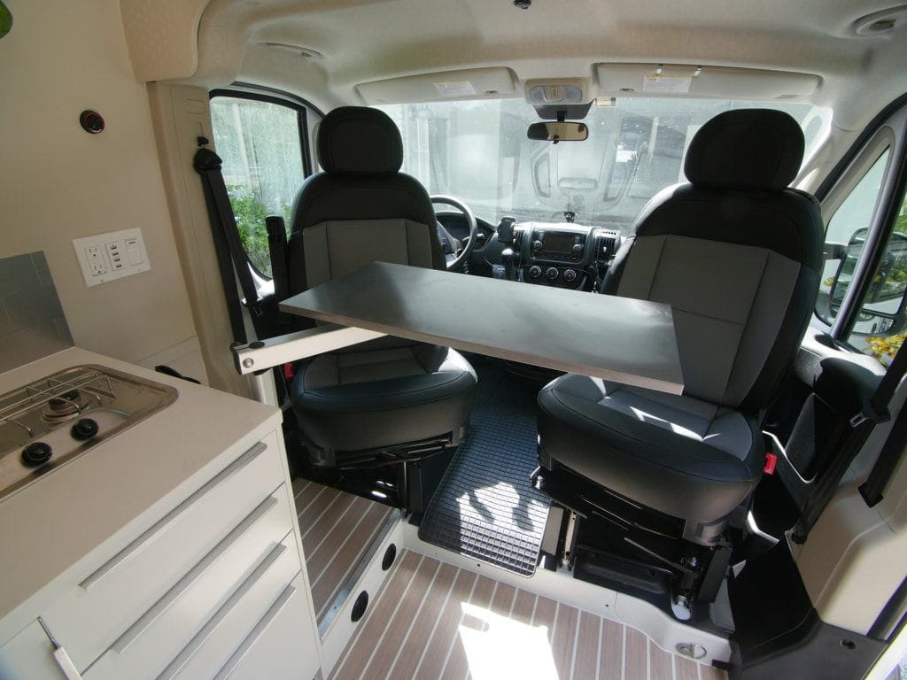 Van swivel seats are an add-on you might want to consider.
