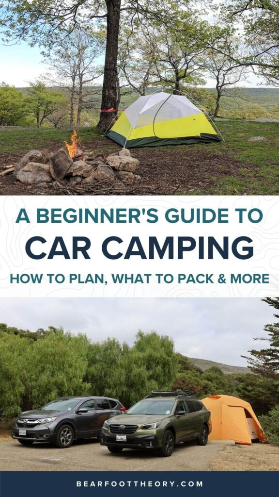 Plan an epic car camping trip with this complete beginner guide including tips for finding campsites, gear, cooking, what to pack, and more.
